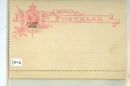 ONBESCHREVEN POSTBLAD *  VOORDRUK NVPH 35 + OPDRUK 3 CENT  (7846) - Periode 1891-1948 (Wilhelmina)