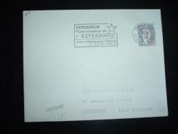 LETTRE TP MARIANNE DE COCTEAU 0,20F OBL.MEC. 5-9-1966 PARIS 83 (75) + ESPERANTO - Esperanto