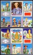 SHARJAH = SCOUTS JAMBOREE X2 S/S MNH COSTUMES UNIFORMS, BUDDHA STATUE, LIBERTY (D059) - Scouting