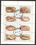 Grossbritannien Staffa 1973 Scotland Kleinbogen Gestempelt 30.2.73 Fische Fish Poissons - Ortsausgaben