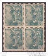 ES1050-B045.España Spain.Espagne .General  FRANCO Y CID.1048/53. (Ed 1050**BL4) Sin Clarnela LUJO - 1931-50 Nuevos & Fijasellos