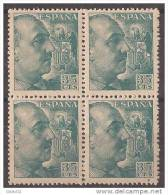 ES1050-B045TAN.España Spain.Espagne .General  FRANCO Y CID.1048/53. (Ed 1050**BL4) Sin Clarnela LUJO - 1931-Hoy: 2ª República - ... Juan Carlos I