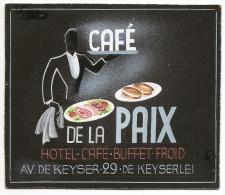 Projet Publicité Original Années 70 Presse Graphisme Café De La Paix Antwerpen Belgique Anvers Av. De Keyser A16b-9 - Placas De Cartón