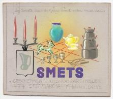 Projet Publicité Original Années 70 Presse Graphisme Magasin Arts De La Table SMETS à GRENS VAALS Pays-Bas A16b-18 - Placas De Cartón