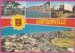 Coutainville Le Centre Ville La Plage Le Casino Vue Générale Aérienne - Coutances