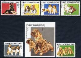 AZERBAIJAN 1996 Dogs (6v + Block) MNH / ** - Dogs