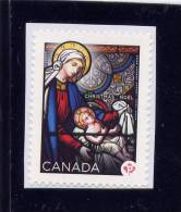 """CANADA, 2012, #2582  MNH  CHRISTMAS STAINED GLASS   """"P"""" SINGLE Mother With Child - Carnets"""