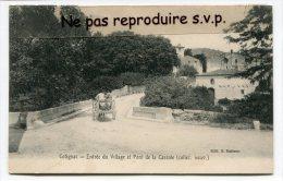 - COTIGNAC - Entrée  Du Village Et Pont De La Cassole, Charrette, En 1909, Retour Des Champs, écrite, TBE, Scans. - Cotignac
