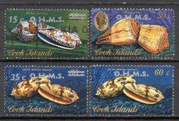 Meeres-Schnecken 1978 Cook Islands D20-26 AD O 2€ WWF Muscheln Leben Im Ozean Meereswelt Fauna Overprint Set Of Oceanien - Cookeilanden