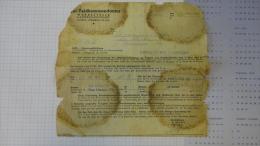 13T - Convocation D'embauche Feldkommandantur Werbestelle La Louvière Ouvrier Usine Gilson La Croyère 1942 - Ohne Zuordnung