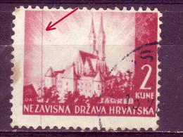 LANDSCAPES-ZAGREB-CATHEDRAL-2 K-ERROR-VERTICAL LINE-NDH-CROATIA-1941 - Croatia