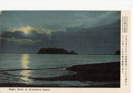 C1950 NIGHT SEEN AT ENOSHIMA ISLAND - Japon
