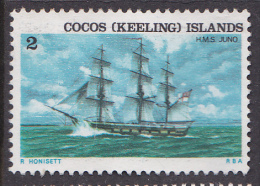 1976. COCOS (KEELING ISLANDS). Ships Associated With Cocos Island 2c HMS Juno. FU. - Cocos (Keeling) Islands