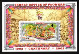 Jersey - 2002 Battle Of Flowers Block MNH__(TH-2860) - Jersey