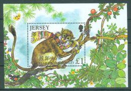Jersey - 2004 Year Of Monkey Block MNH__(TH-7382) - Jersey