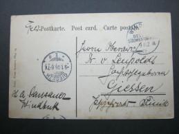 1905, WINDHUK, Feldpostkarte Mit Ansicht Nach Giessen - Colony: German South West Africa