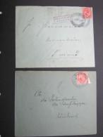 1919, Aptierter Stempel Auf 2 Zensurbrief En, Einmal  An Schutztruppenadresse !! - Colony: German South West Africa