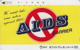 Télécarte Japon / Santé Médecine  - Lutte Contre Le SIDA  - AIDS Barrier -  Japan Phonecard Telefonkarte - 79 - Publicité