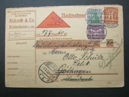 1922, NN-Karte Aus Rüdesheim - Briefe U. Dokumente
