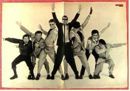Kleines Musik Poster  -  Gruppe Madness  -  Rückseite : Sascha Hehn  -  Von Bravo Ca. 1982 - Plakate & Poster