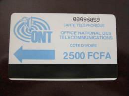 Autelca Magnetic Phonecard,ONT 2500 FCFA,used - Ivoorkust