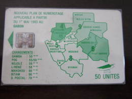 Chip Phonecard,map Of Gabon ,used - Gabon