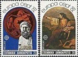 1982 - Grecia 1459/60 Battaglia Di Maratona - Storia