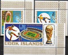 FIFA Fußball WM Germany 1974 Cook Islands 419/1 Im ER ** 6€ Karte Spieler Blocchi Bf Sport Bloc Soccer Sheet Of Oceanien - Coppa Del Mondo