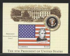 Liberia - 2000 Presidents Of The USA Block (9) MNH__(TH-12986) - Liberia