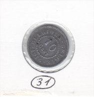 10 Centimes Zinc Albert I 1916  FR/FL - 04. 10 Centimes