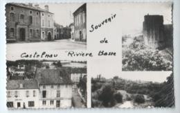"""cpsm """" Souvenir de CASTELNAU RIVIERE BASSE """" Multivues - TRES RARE ! circul� vers Pouzols"""