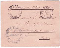 1898- Enveloppe Du Corps Expéd. / Tonkin + DONG-TRIEU / TONKIN  + Poste De Dong-Trieu * Tonkin * - Storia Postale
