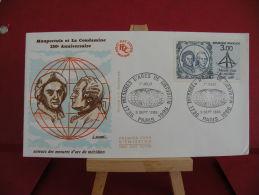 FDC, Maupertuis Et La Condamine 250é Anniversaire - Paris -  5.9.1986 - 1er Jour - - FDC