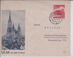 REICH  - 1940  - ENVELOPPE De ULM - Alemania