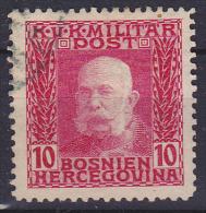 OOSTENRIJK - Michel - 1912 - Nr 69 (Bosnië-Herzegovina) - Gest/Obl/Us - Levant Autrichien