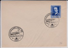 REICH  - 1941  - ENVELOPPE De HAMBURG - TAG DER BRIEFMARKE - Alemania