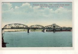 TRAIN Bridge - The North Bank Road (longest Draw Span In The World)  Ca. 1910 - Ponts