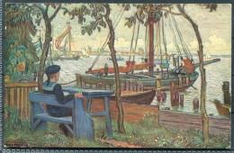 """Allemande D'Hartig Bateaux Guerre Maritime 1914 """"wohlfahrtskarte"""" Hans Hartig Kriegs-Invalidens Kaiserlichen Marine - Weltkrieg 1914-18"""