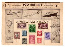 """FRANCE   10 Timbres De Différents Pays    """"La Poste à Travers Les âges""""     N°2      (7 Timbres Oblitérés) - France"""