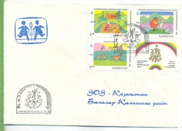 KASACHSTAN 3.11.94 SOS-Kinderdorf Um 1990/2000 Verlag: POSTKARTE/Brief Mit Frankatur, Mit Stempel, KASACHSTAN 3.11.94 Er - Kasachstan