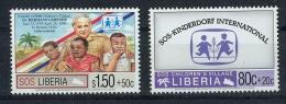 2 X Marken **, SOS Liberia, SOS-Kinderdorf Erhaltung: I-II - Liberia