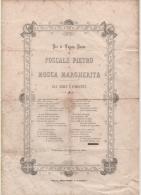 Alt369 Matrimonio, Marriage, Mariage, Fauste Nozze, 1894, Documento Storico, Regno D´italia Hystorical Document - Annunci Di Nozze