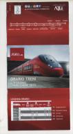 Alt373 Orari Timetable Horaires Treno Train Italo Compagnia Ferrovie Privata, Private Railways Company - Europa
