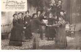 Folklore-Danse-La Bourrée D´Auvergne-Bourreio D´Auvergno-Musiciens Et Danseurs-Ecrite De Royat En 1909 - Danses