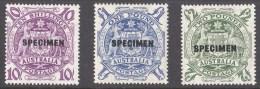Australia 1948 Arms Specimen Set MNH - 1937-52 George VI