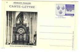 FRANCE - CARTE LETTRE TYPE ARMOIRIES SERIE N° 6 A 10  2ème TIRAGE DE MAI 1938 COULEUR NOIR AVEC POCHETTE - Cartes-lettres