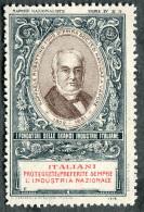 ERINNOFILO MARCHE NAZIONALISTE RAFFAELE RUBATTINO SOCIETà A VAPORE GENOVA  I FONDATORI DELLE GRANDI INDUSTRIE ITALIANE - Cinderellas