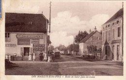 CPA Les Maillys (21) Route De St De Losne Pub BYRRH + Société Générale - Autres Communes
