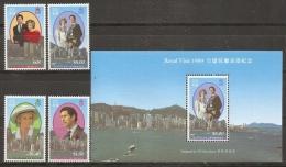 FAMILIAS REALES - HONG KONG 1989 - Yvert #586/89+H12 - MNH ** - Familias Reales