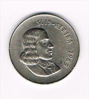 ..  ZUID AFRIKA  20 CENT  1965  AFRIKAANS LEGEND - Afrique Du Sud